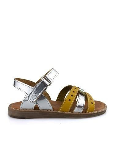 Cici Bebe Ayakkabı Kız Çocuk Sandalet Gümüş
